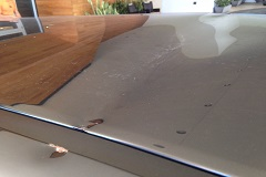 Heavy damage to the paint surface - scratches, scrapes, dents, scuffs and etchings