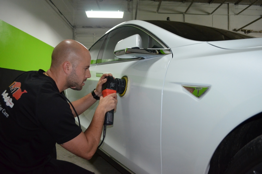 Multiple stage paint correction using the finest compounds and polishes