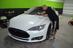 Professional application of a semi-permanent coating to all painted surfacess