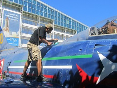 Restoring the Shine on the Fighter's Paint