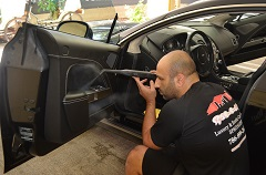 Interior steam cleaning using chemical-free vapor to clean every surface inside your vehicle